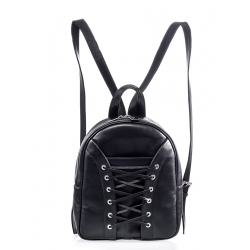 Black Leather Backpack No Srings Attached