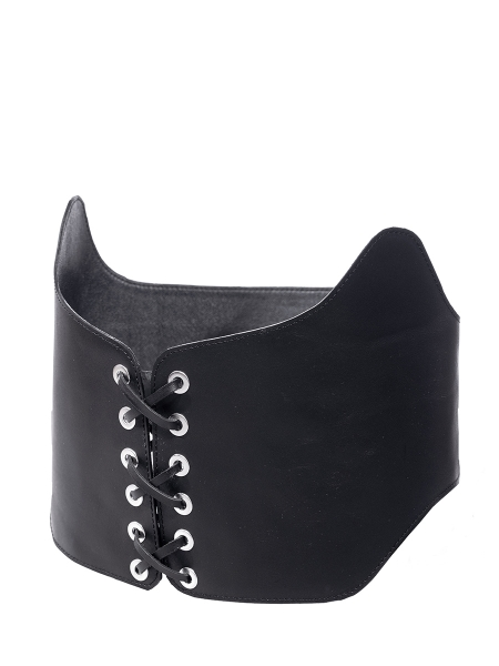 Black Leather Waist Belt No Strings Attached