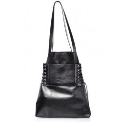 Natural Leather Black Shoulder Bag No Strings Attached