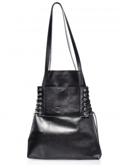 Black Leather Shoulder Bag No Strings Attached