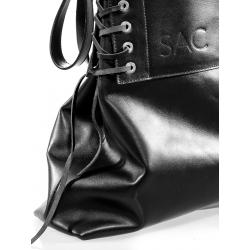 Black Leather Shoulder Bag No Strings Attached