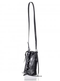 Small Black Leather Shoulder Bag No Strings Attached