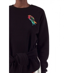 Hanorac cu broderie cu cordon Courtney Ioana Ciolacu