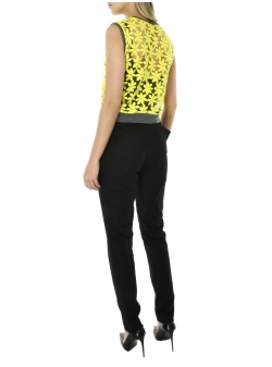 Neon lace top