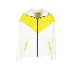 White and yellow sport jacket