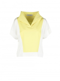 Top with high collar