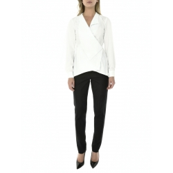 White structured shirt with flared sleeves