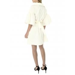 Ivory dress with buffalo sleeves