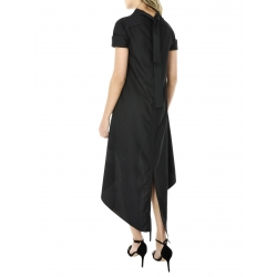 Black asymmetrical dress with short sleeves
