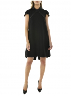 Black Midi Dress With Silver Chains