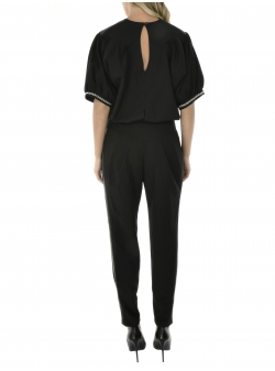Black Jumpsuit With Medium Sleeves