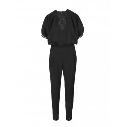 Black Jumpsuit With Medium Sleeves