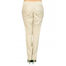Pantaloni bej cu drapaje si buzunare