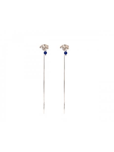 Long Earrings With Cherry Flower