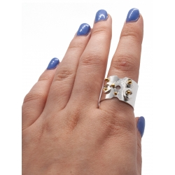 Ring With Golden Drops