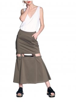 Skirt with adjustable length