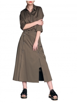 Modular Skirt With Detachable Panel