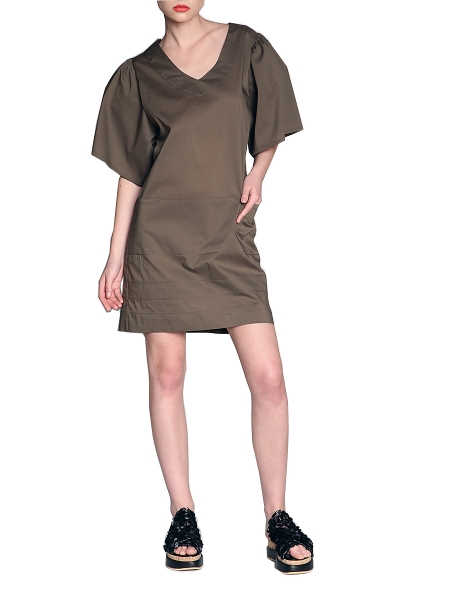 Dress With Oversized Shoulders