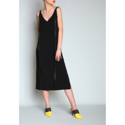 V Neck Dress With Adjustable Straps