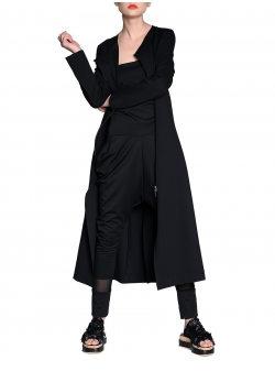 Jersey Trench With Adjustable Sleeves