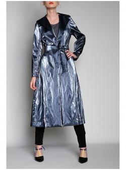 Trench tip kimono ultramarin
