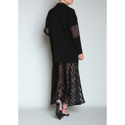 Black Organza Maxi Skirt