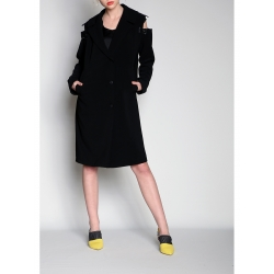 Black Trenchcoat With Detachable Sleeves
