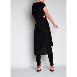 Black Midi Tunic Dress