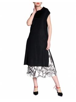 Black Midi Tunic Dress