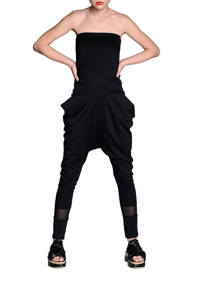 Black Jersey Overall