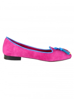 Suede Flats With Contrast Borders