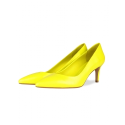 Yellow Leather Stiletto Shoes