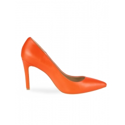 Orange Leather Stilettos