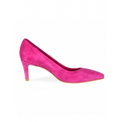 Pantofi din piele intoarsa roz