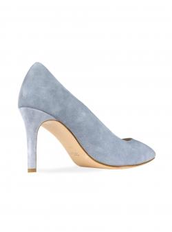 Pantofi din piele intoarsa gri