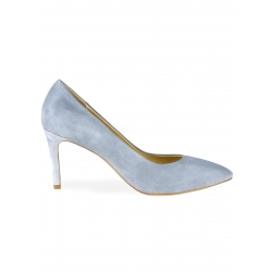 Light Grey Suede Stilettos