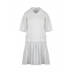 White Midi Dress With Sleeves