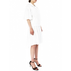 White Midi Dress With Sleeves