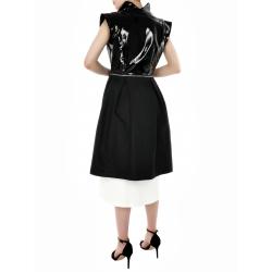 Black Tunic Vest WIth Zipper