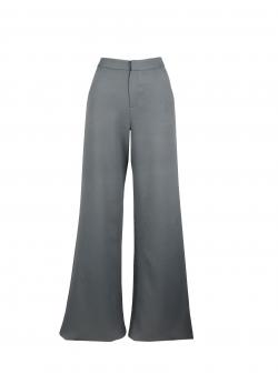 Pantaloni gri evazati