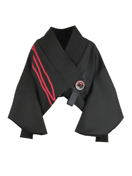 Kimono Jacket With Red Stripes