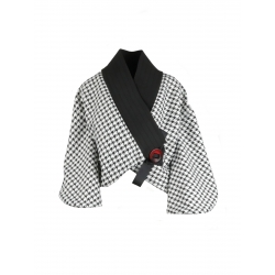 Black And White Kimono Jacket