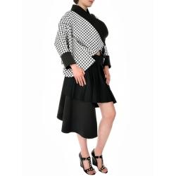 Black And White Kimono Jacket