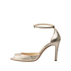Natural Leather Golden Sandals Sylvia