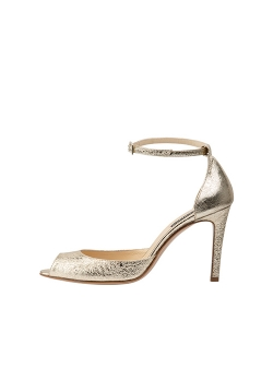 Sandale aurii din piele naturala Sylvia