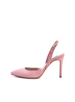 Suede Nude Stiletto Sandals