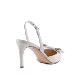 Natural Leather White Sandals Alice