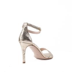 Sandale din piele naturala argintii