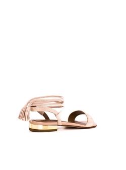 Sandale nude din piele naturala Zaza