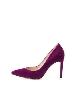 Purple Natural Leather High Heels Alice